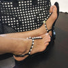 Fume' Black Jelly Sandals with Pearls