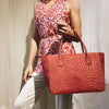 Ruby Red Ostrich Bag