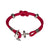 Crimson Red Anchor Bracelet