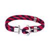 Double Red Navy Anchor Bracelet - Bohology