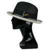 '1910' Black and Cream Foldable Hat