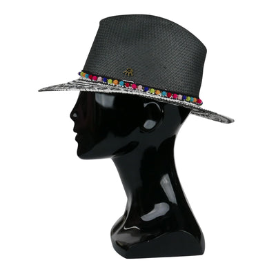 Graphic Black And White Panama Hat