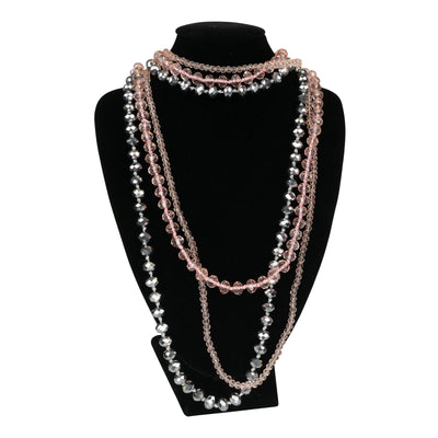 Pink 'Highlight' Elastic Necklace