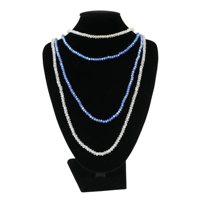Light Blue 'Highlight' Elastic Necklace