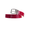 3.5cm Cherry Red Crocodile Belt (max 120cm)