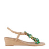 Green Jewel 3cm Wedges