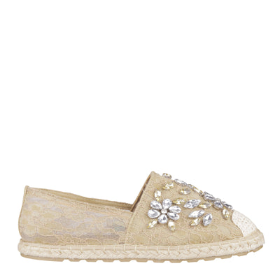 Jewel Transparent Lace Espadrilles (EU40)