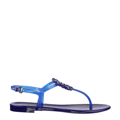 Night Blue Swarovski Jelly Sandals