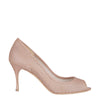 Nude Net Open Toe Pumps (EU35)