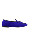 Handmade Electric Blue Suede Loafers