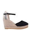 Black Lace Espadrilles Wedges (EU 40)