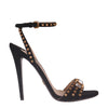 Suede Sandals With Studs And Swarovski (EU41)