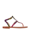 Multicolor Sandals With Studs