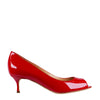 Patent Red Open Toe Pumps (EU36.5)