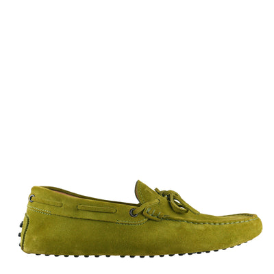 Green Suede Gommino Loafers (size UK 9/ EU 43)