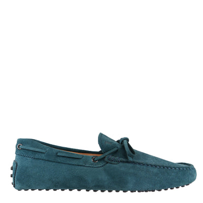 Teal Suede Loafers (Size UK7.5/EU41.5)