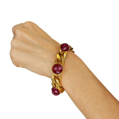 Capri Red Resin Chain Bracelet