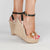 Handmade Nude Jewel Wedges