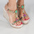 Multicolor Python Jewel Wedges
