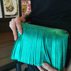 Fringes Green Rubber Sling Bag