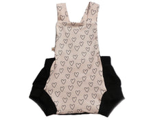 "Load image into Gallery viewer, Sunshine Romper ""Pink Hearts"""
