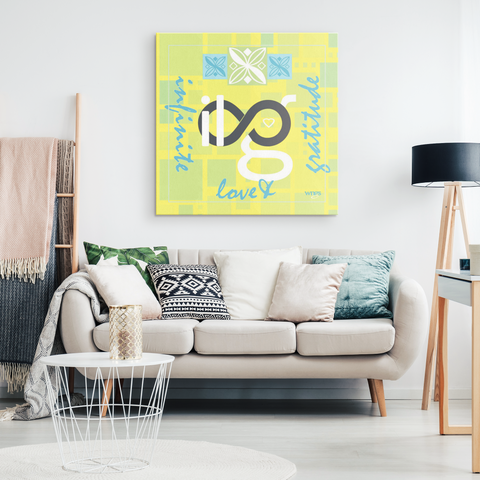 Infinite Love & Gratitude Hanging Canvas