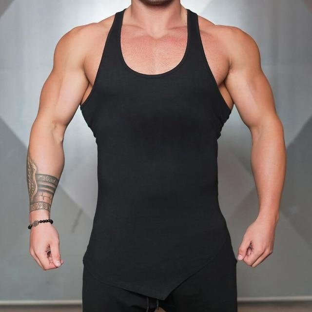 2fa7d428834ad AllOutActive Black   L Solid Colour Mens Bodybuilding Muscle Tank Top