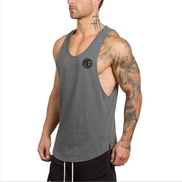 23ab01b0bfc59 AllOutActive Dark grey02   XL Muscle Guys Fitness Tank Top