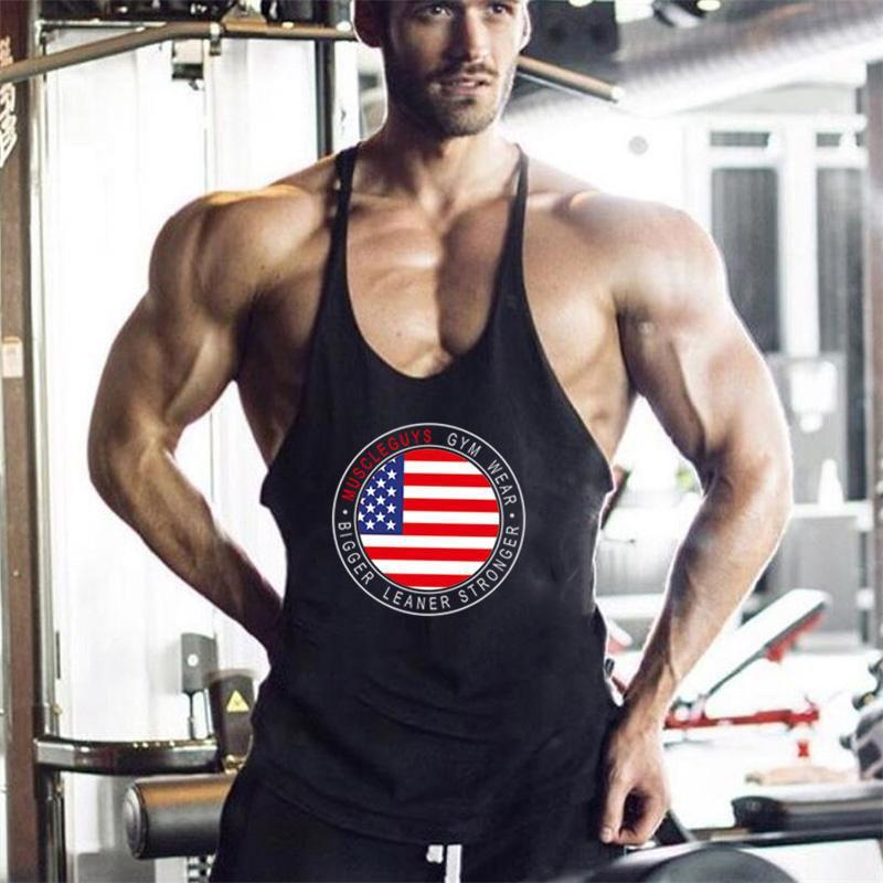5ae76bc8a752e Muscle Guys USA Bodybuilding Fitness Stringer Mens Tank Top