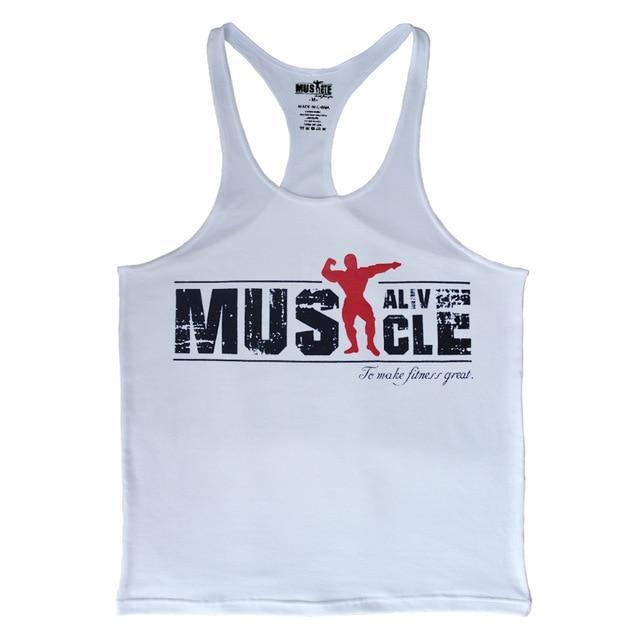 3a93e331823c9 AllOutActive White   S Muscle Alive Mens Stringer Tank Top