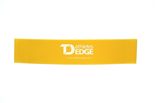 Mini Latex Resistance Bands - Yellow Light - TD Athletes Edge
