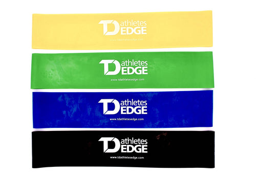 Mini Latex Resistance Bands - Set of 4 - TD Athletes Edge