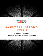 Load image into Gallery viewer, TDAE Basketball Strong Level 1 + 2x/week live training - TD Athletes Edge