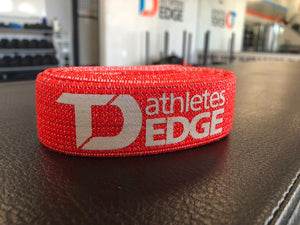 Fabric Pull-Up Band: Red Medium (10-38lbs) - TD Athletes Edge