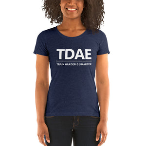 "Women's T-Shirt ""Train Harder & Smarter"" (Bella + Canvas) - TD Athletes Edge"