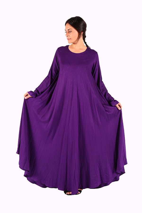 Long & Stylish Purple Moroccan Kaftan