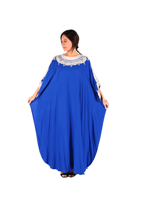 Stunning Blue Moroccan Caftan Stylish Moroccan Women Clothing