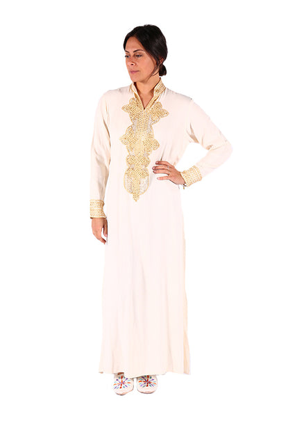 Cream & Stylish Moroccan Women Clothing Caftan 2018