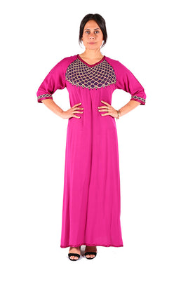 Traditional & Beautiful Pink Elegant Moroccan Kaftan