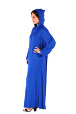 Stunning Blue Simple Sober Moroccan Women Caftan 2018