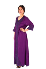 Dark Violet Stylish & Seemingly Beautiful Moroccan Caftan