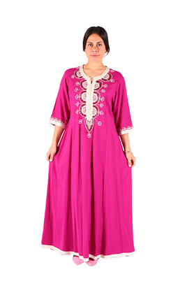 Traditional Style Amazing Pink Moroccan Caftan 2018