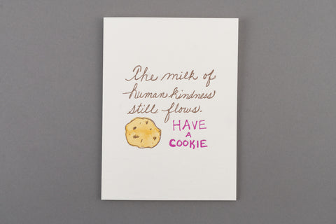 Milk and Cookie - Handmade Holiday Card