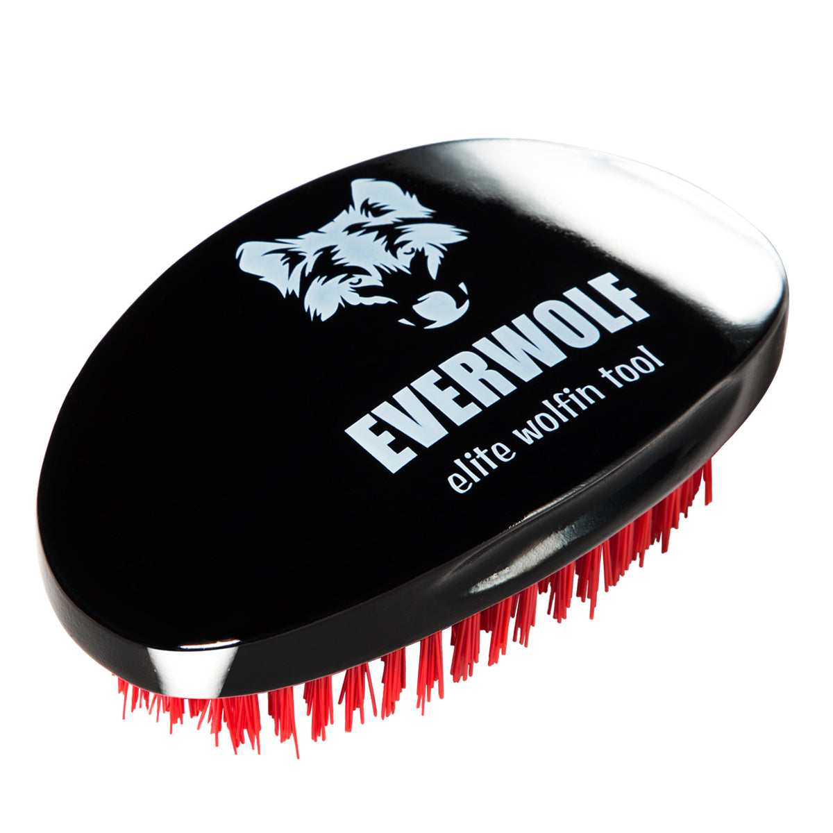 Black Hard Wolfing Wave Brush with FREE Wave Comb
