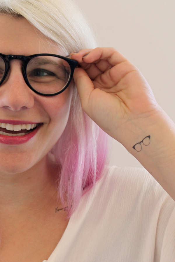 Smart Girl Temporary Tattoos