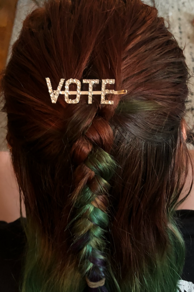 Gold Vote Hair Clip