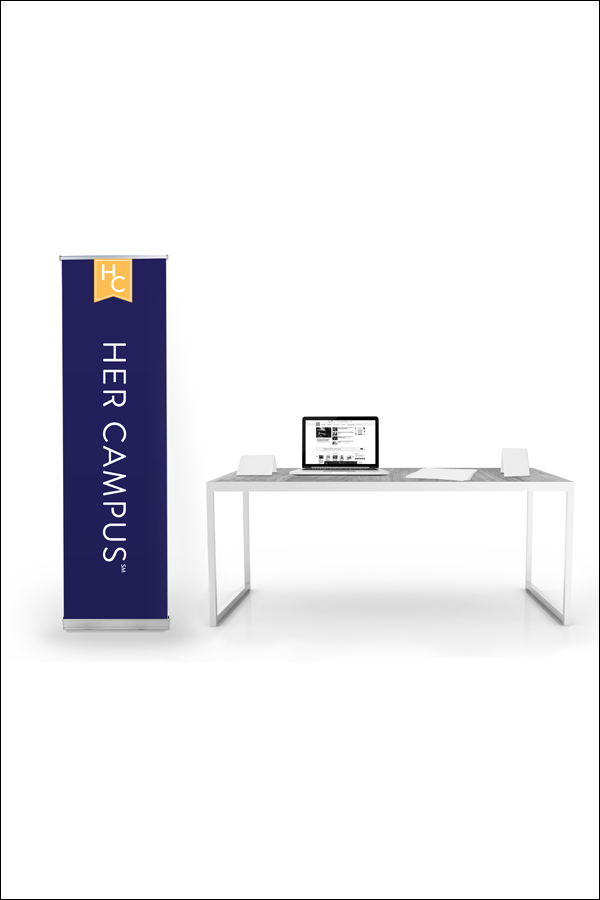 Her Campus Custom Retractable Banner