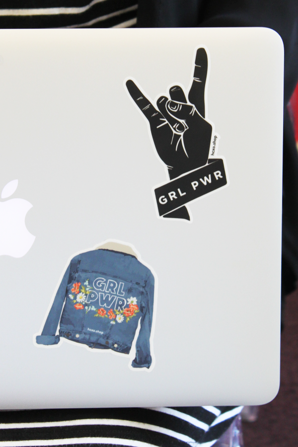 Grl Pwr Sticker - Denim Jacket