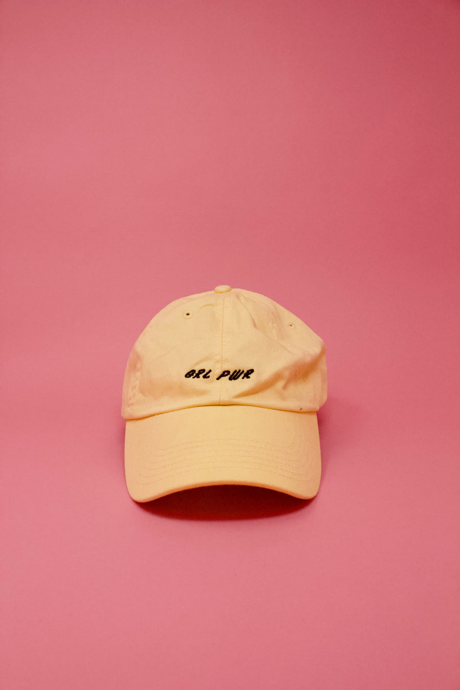 GRL PWR Baseball Cap - Yellow