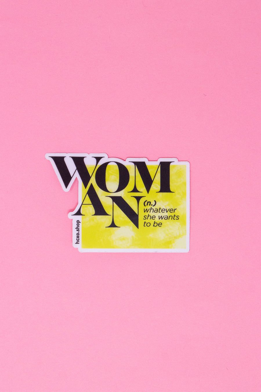Woman Definition Sticker - Yellow